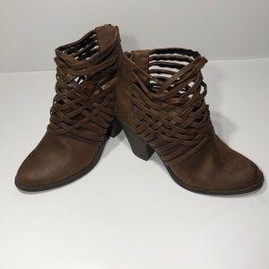 ⚡️⚡️⚡️Fergalicious Brown Ankle Boots SZ 9